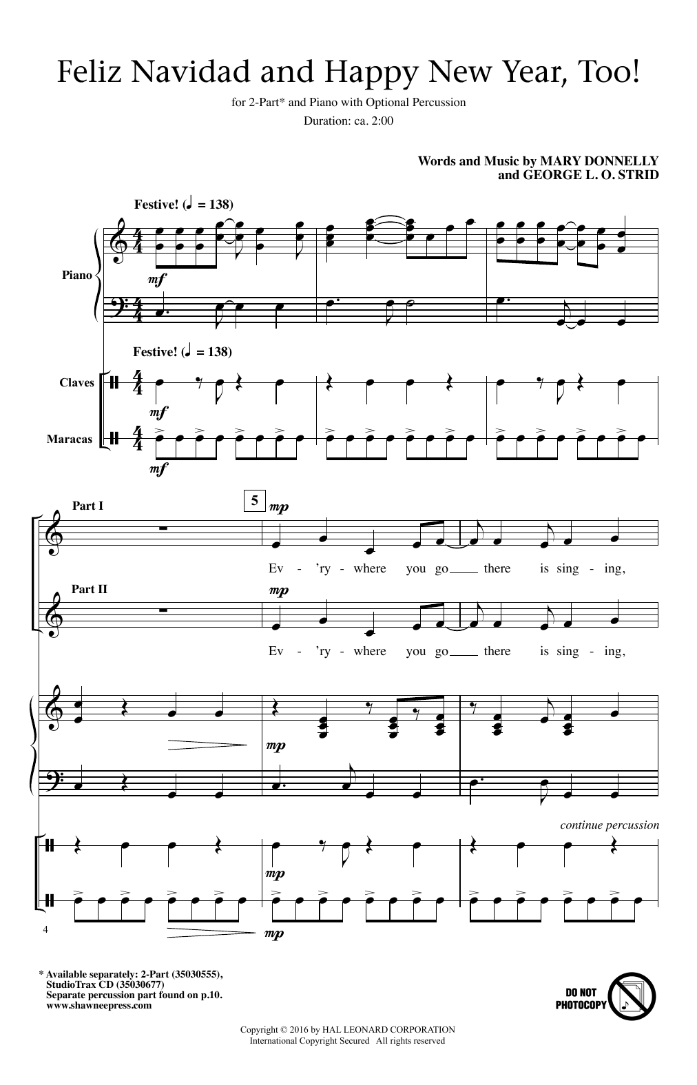 feliz navidad chords pdf
