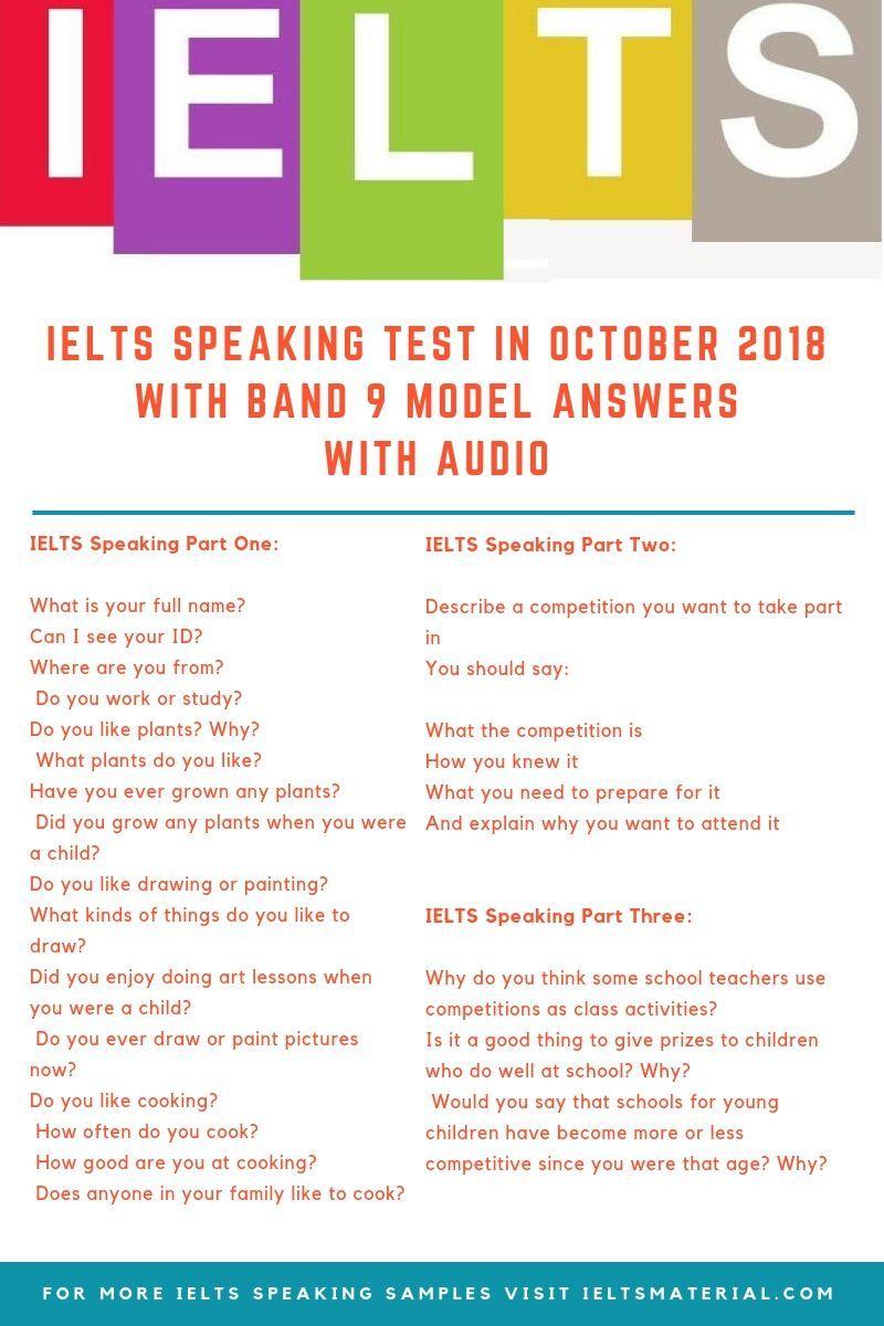 ielts speaking test sample questions