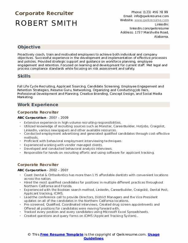 it recruiter job description pdf
