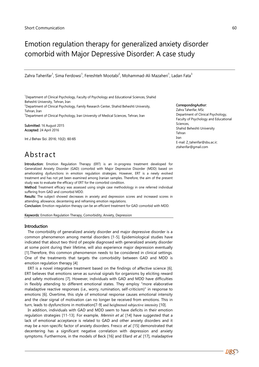 generalized anxiety disorder case study pdf