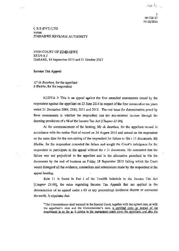 high court rules zimbabwe pdf