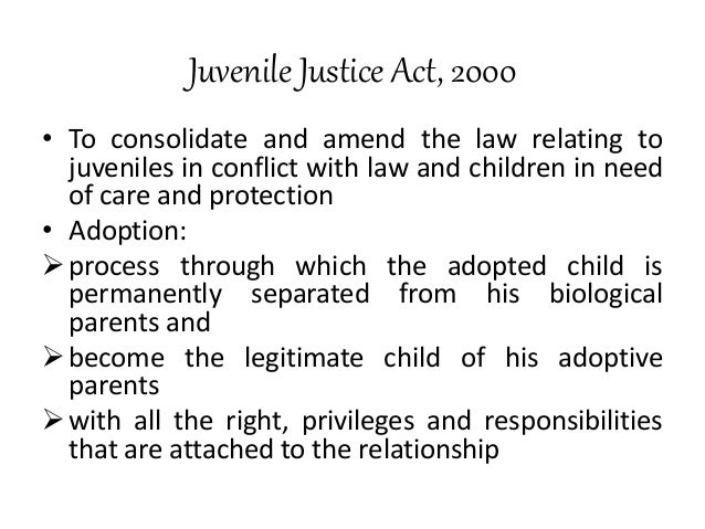 juvenile justice care and protection of children act 2000 pdf