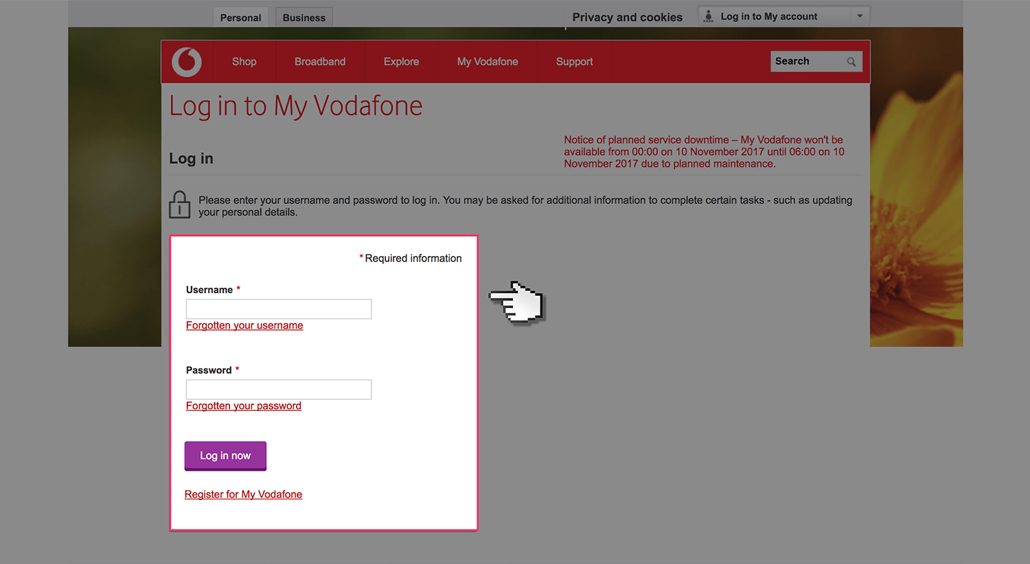 instructions for vodafone email
