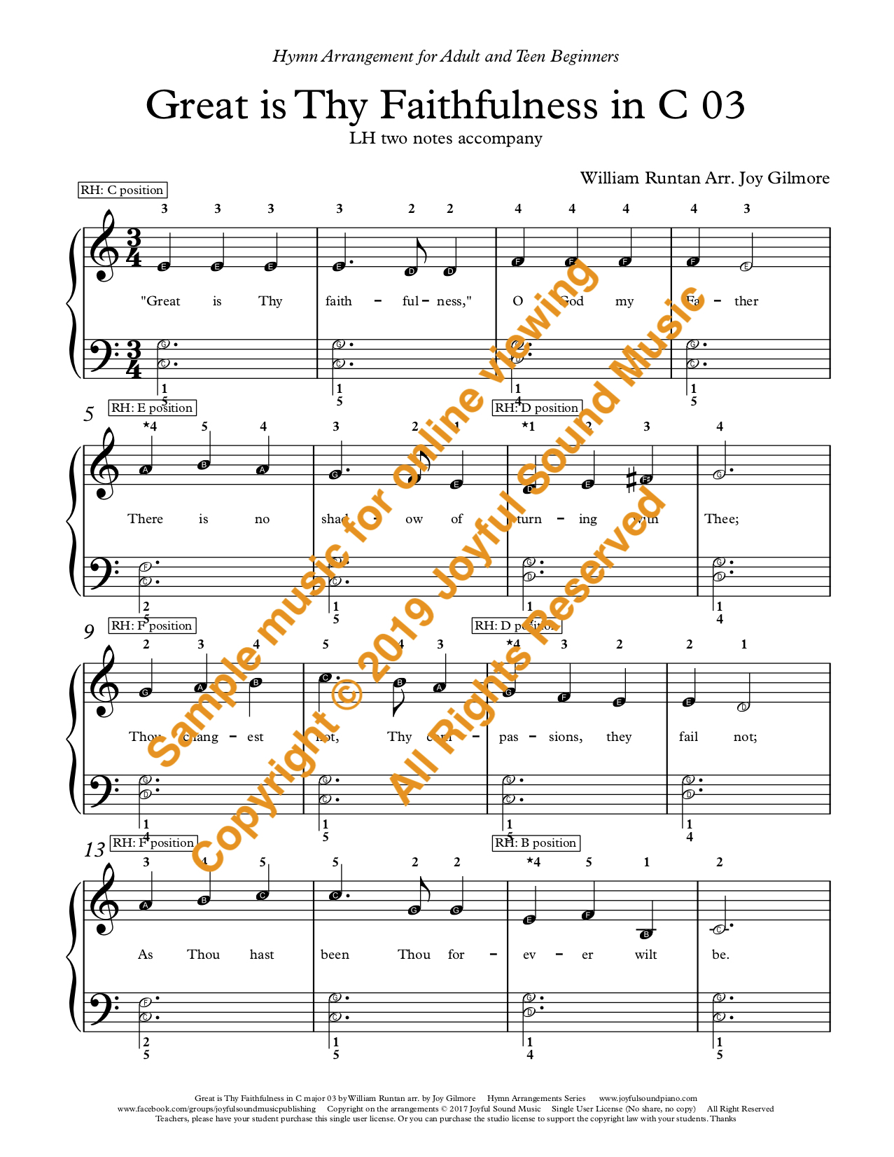 great is thy faithfulness hymn pdf