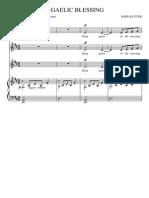 gaelic blessing rutter pdf