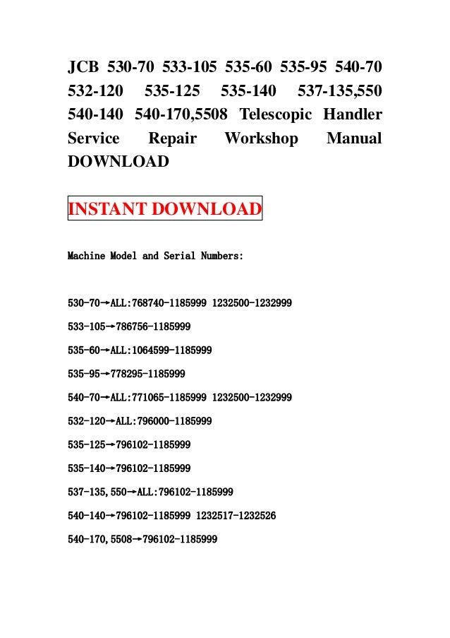 jcb 535 140 service manual