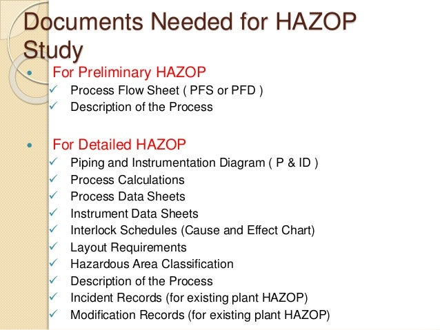 hazop documentation