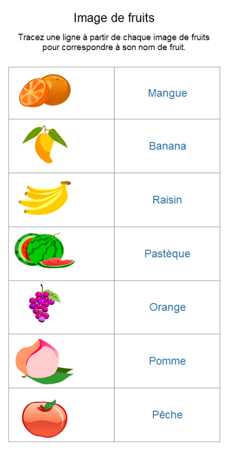 fruits and vegetables in french pdf