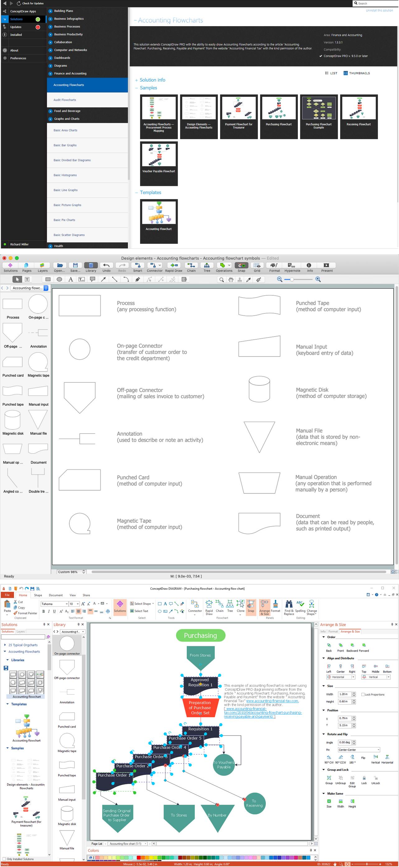 how to visio flowchart pdf separate