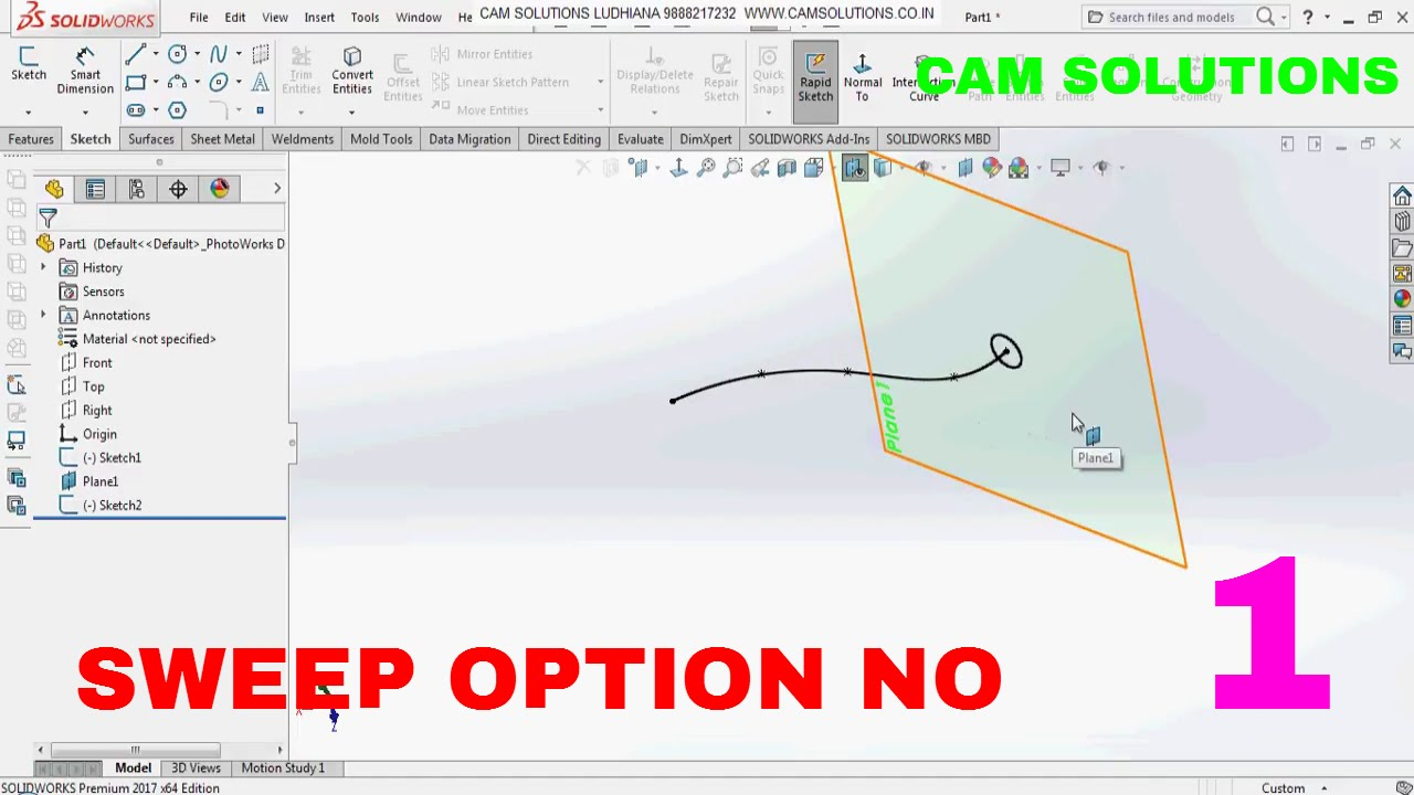 guide curves solidworks sweep t shape