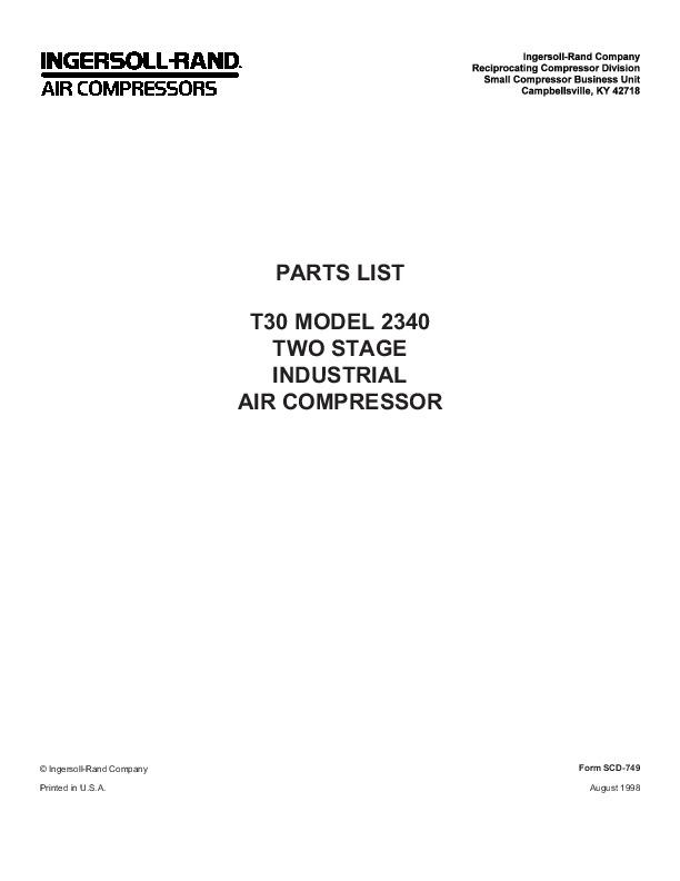 ingersoll rand air compressor 15t2 manual pdf