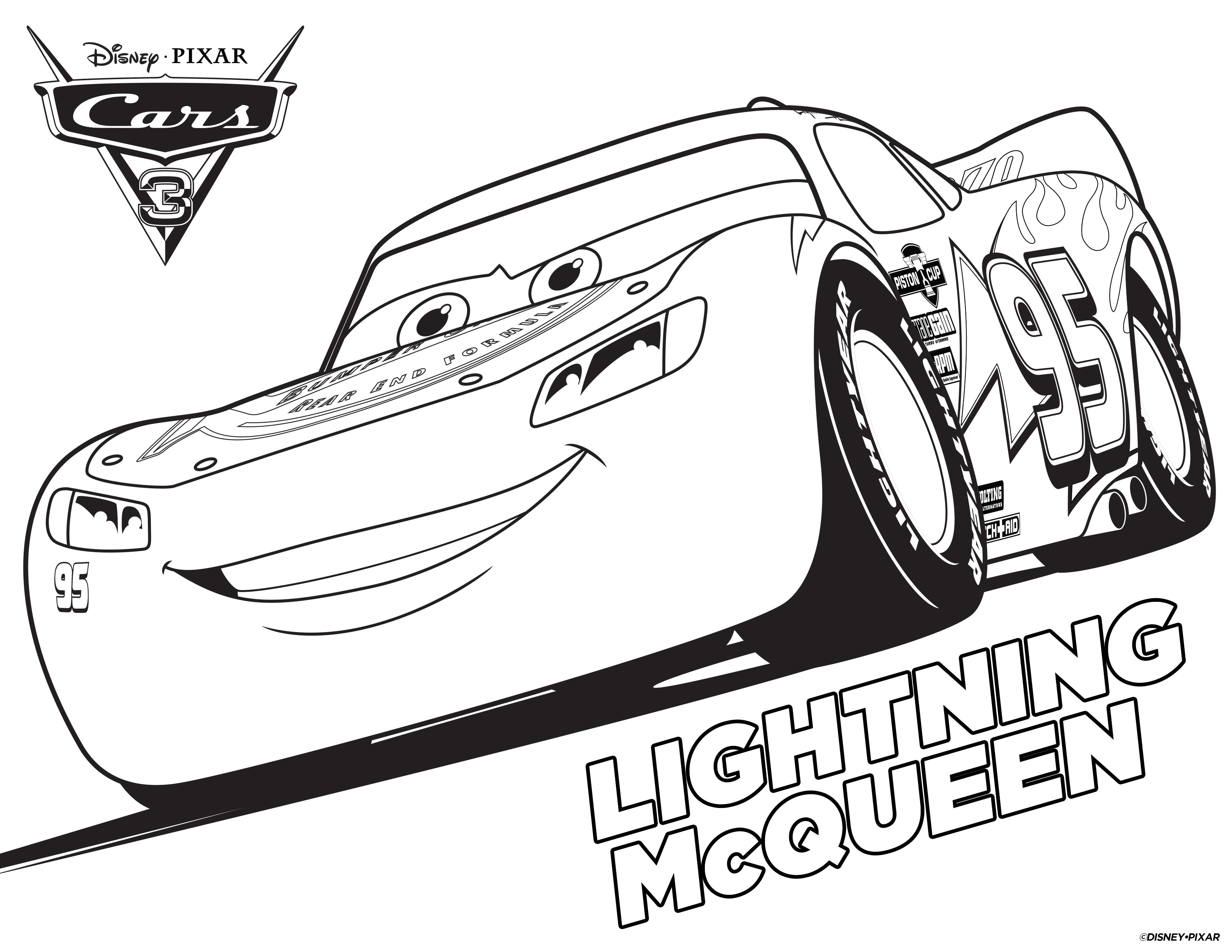 lightning mcqueen coloring pages printable pdf