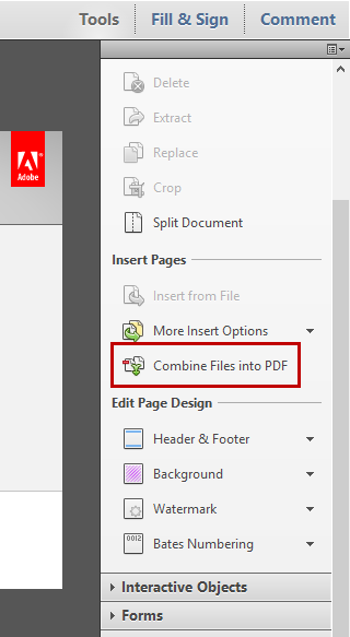 how to combine 3 pdf files into one