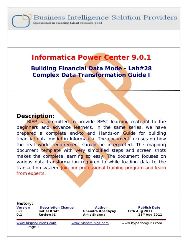 informatica power center product guide