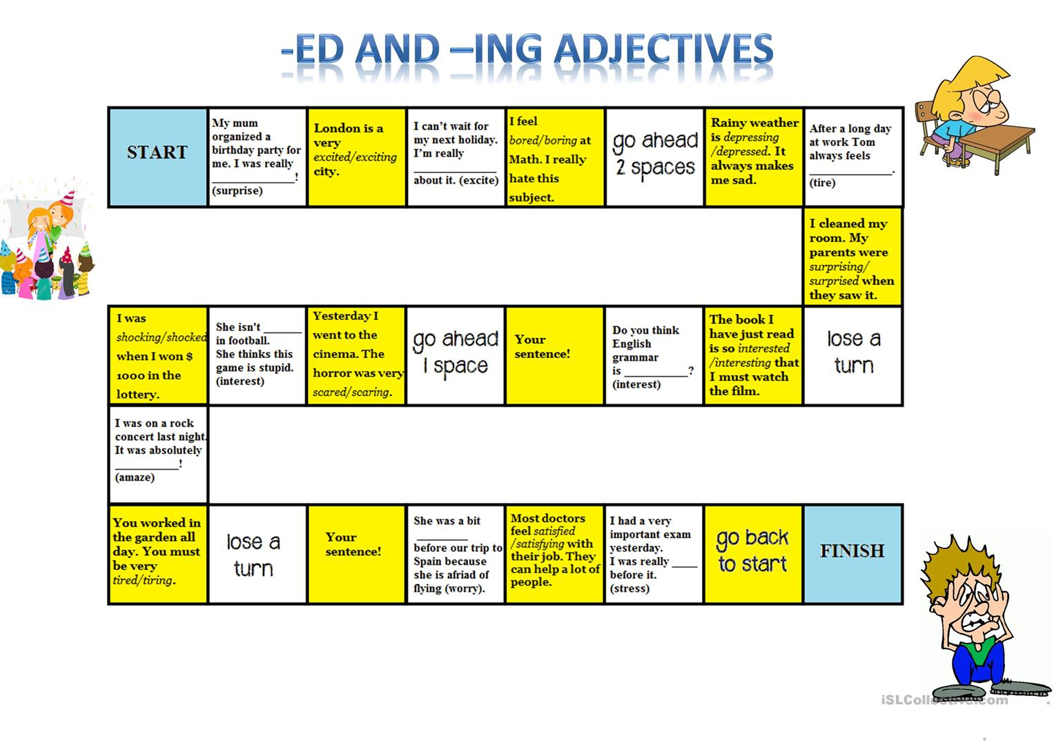 ed and ing adjectives pdf