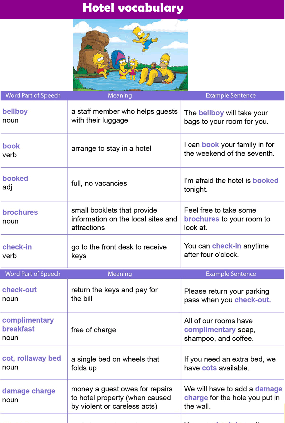 english vocabulary pdf with pictures