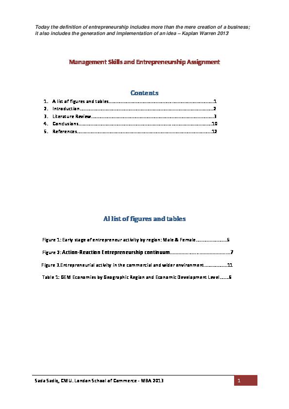 entrepreneurship skills pdf