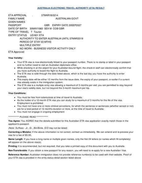 evisitor australia application