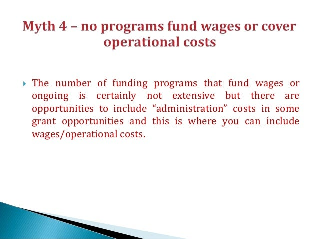 grant application for operational costs