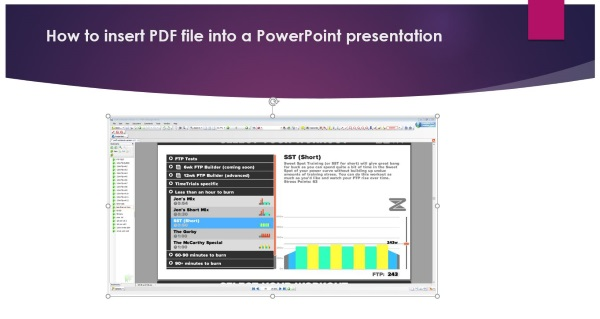 how to insert a pdf document into powerpoint