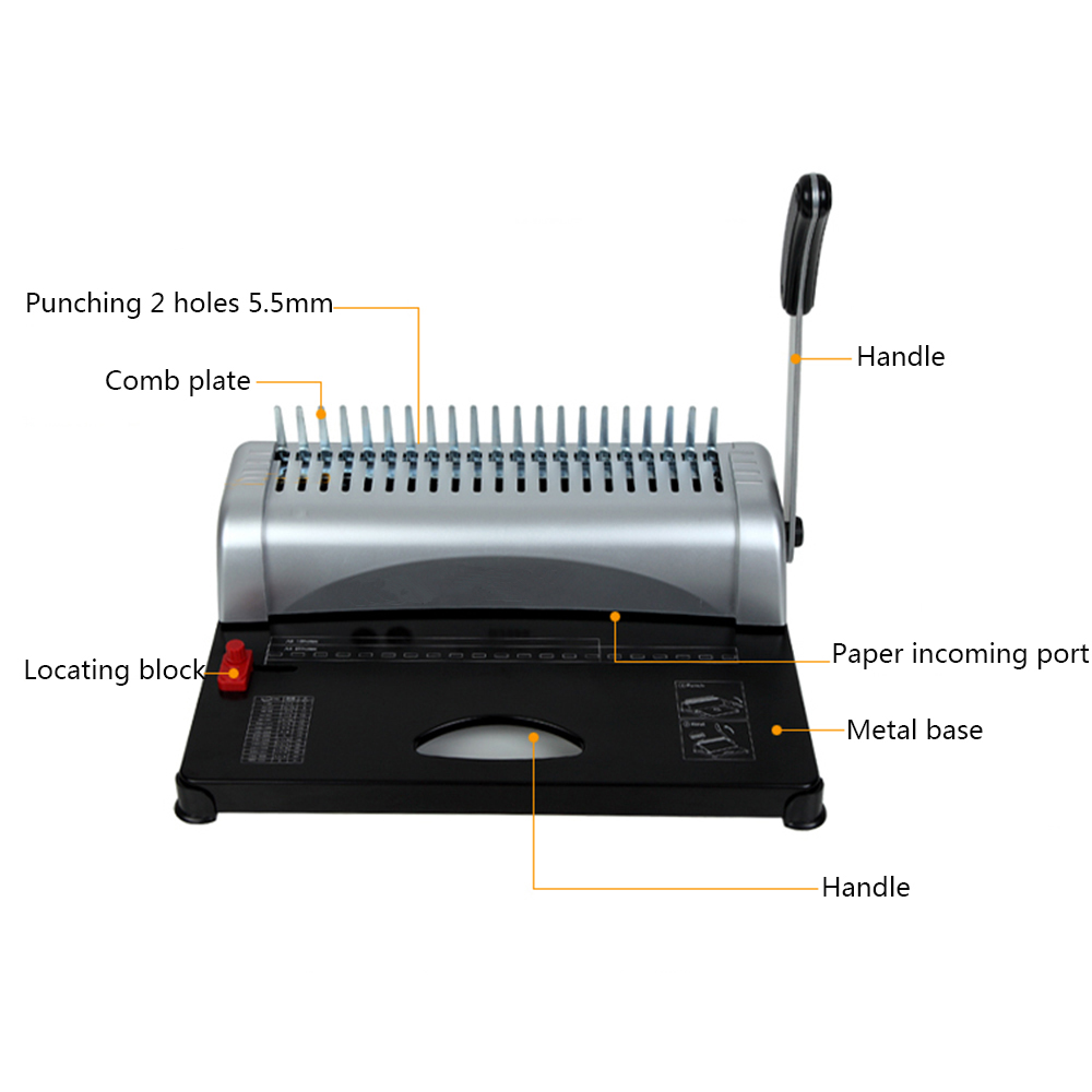 how to use manual comb binding machine