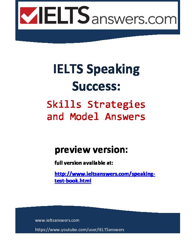 ielts speaking success pdf
