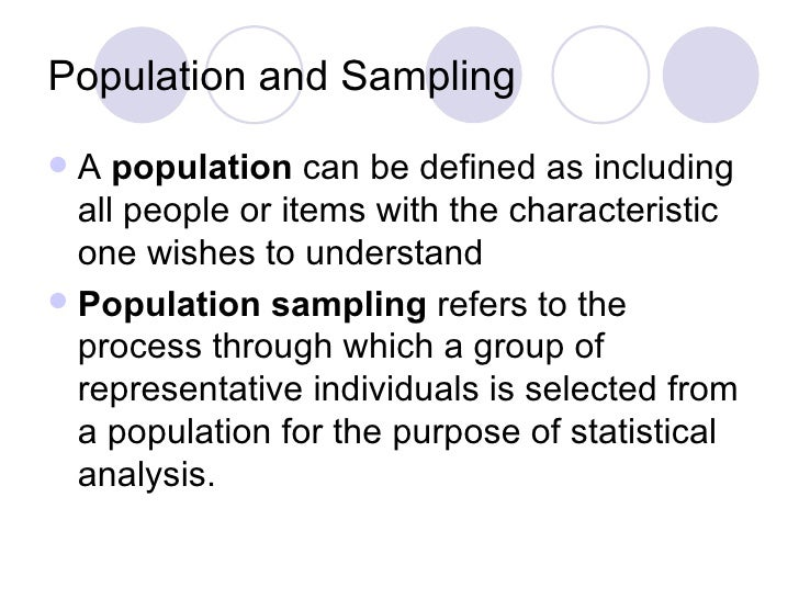 importance of population and sample in research