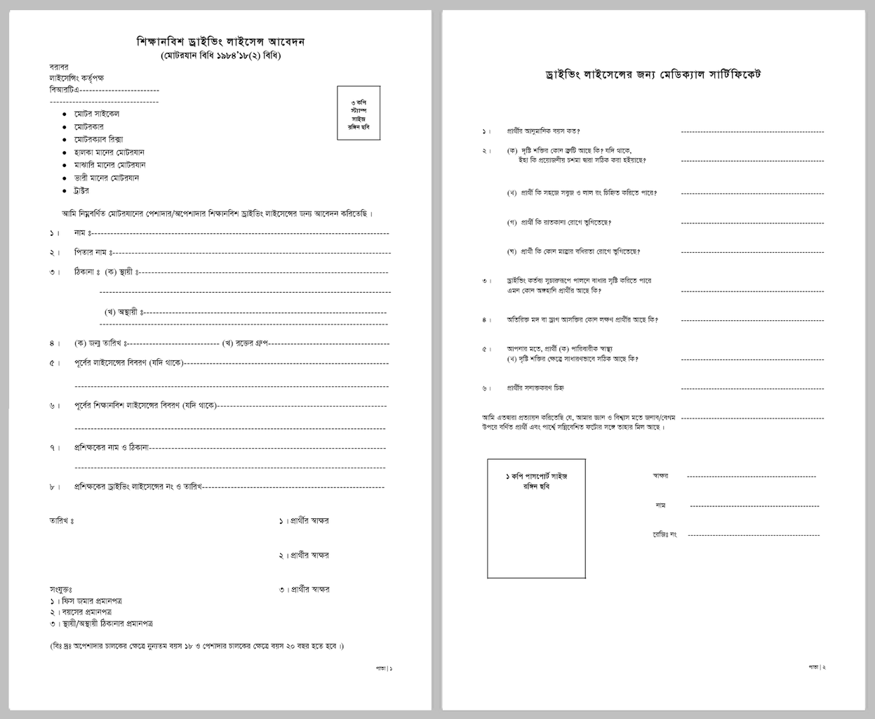 international drivers license application