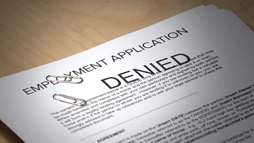 job application denied