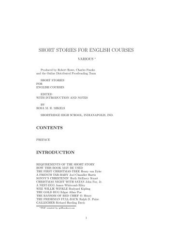 long story in english pdf